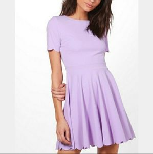 💜 NWOT Boohoo lilac fit and flare dress